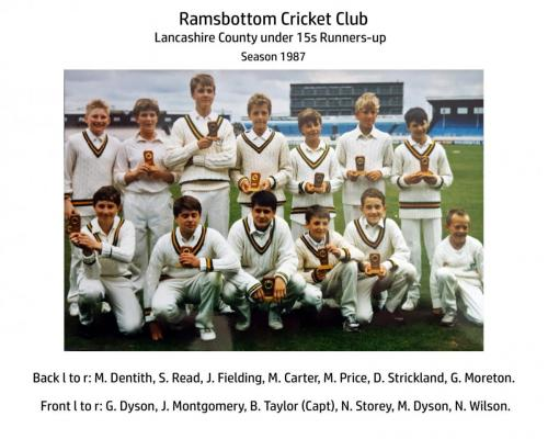 RCC Under 15s 1987 Lancs County Runners Up